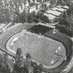 12_Ende der 50er bei einer Leichtathletik Veranstaltung im Hintergrund Tennisplätze von Blau-Weiß Saarbrücken
