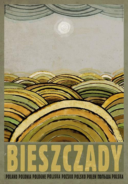 Bieszczady Plakat Ryszard Kaja Bieszczad