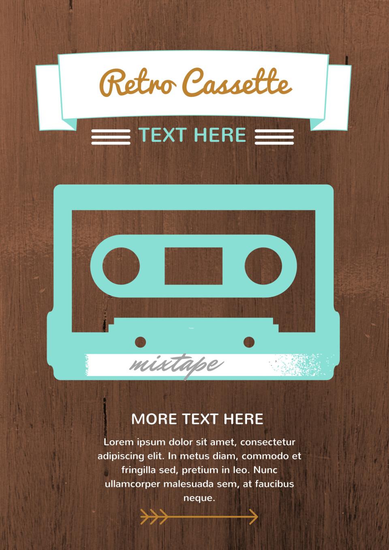 kasett retro casette text here