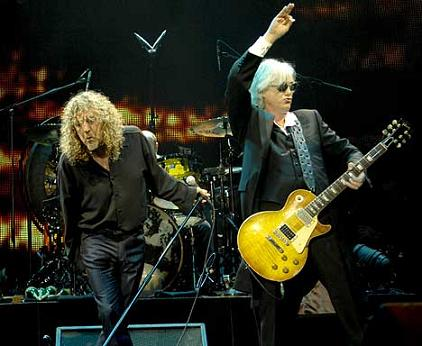 Led Zeppelin's Robert Plant and Jimmy Page