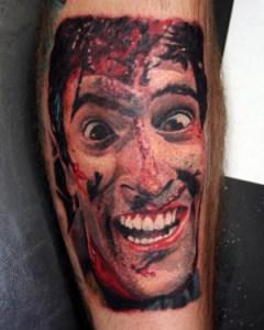 Evil Dead Ash Tattoo