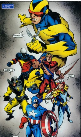 Carlos Pacheco on Goliath and Yellowjacket in Avengers Forever.