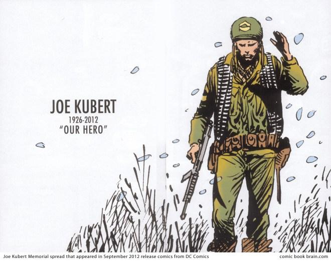 Joe Kubert memorial, DC Comics, September 2012