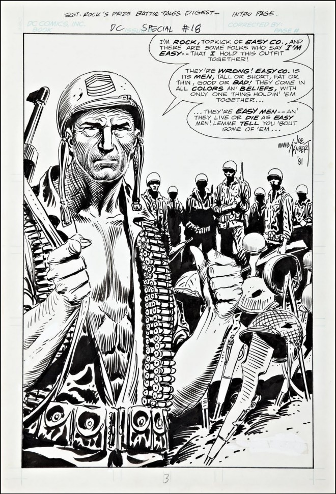 Joe Kubert, Inked page from DC Special 18