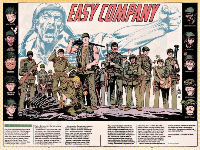 Rock and Easy Co. by Joe Kubert, from Who's Who: The definitive Directory of the DC Universe #7