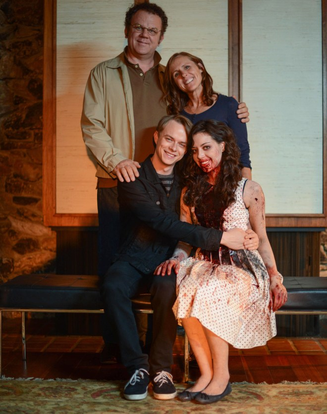 LIFE AFTER BETH - 2014 FILM STILL - John C. Reilly, Molly Shannon, Dane DeHaan and Aubrey Plaza - Photo Credit: Greg Smith