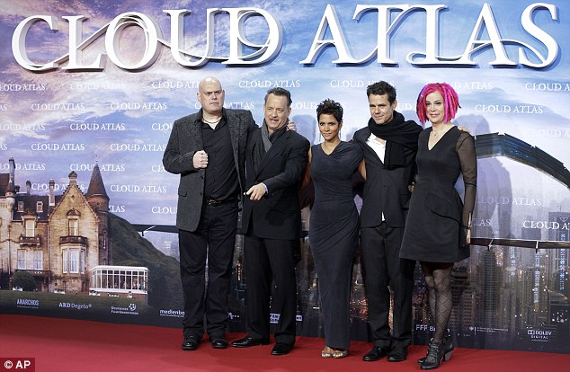 Andy Wachowski, Tom Hanks, Halle Barry, Tom Tykwer, and Lana Wachowski at the German premiere of Cloud Atlas