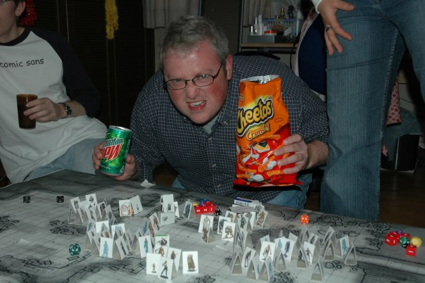 ...only instead of coarse-grained bread and mead, the listeners are dining on mountain dew and cheetos...