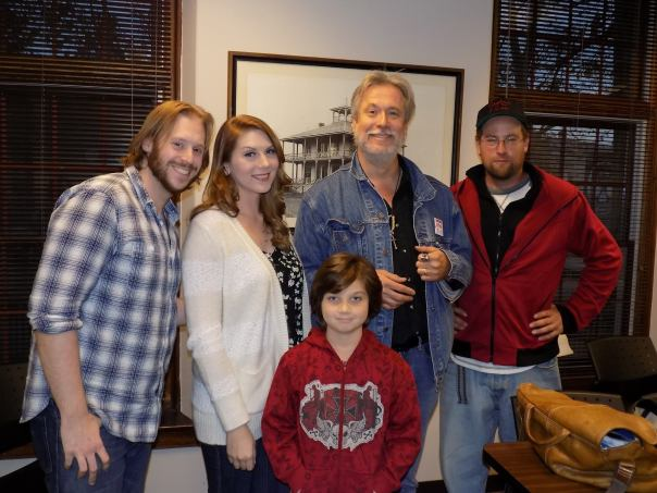 Brandon with Lori Reed, Edward X Young, Michael Kay, Nate Vanien