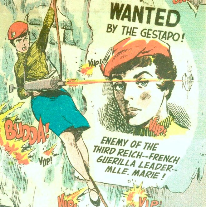 Mlle. Marie from Star-Spangled War Stories 88, art by Mort Drucker.