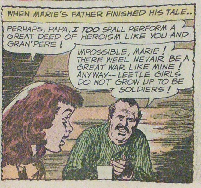 Panel from SSWS #86, script by Robert Kanigher, art by Mort Drucker. (Author's collection).