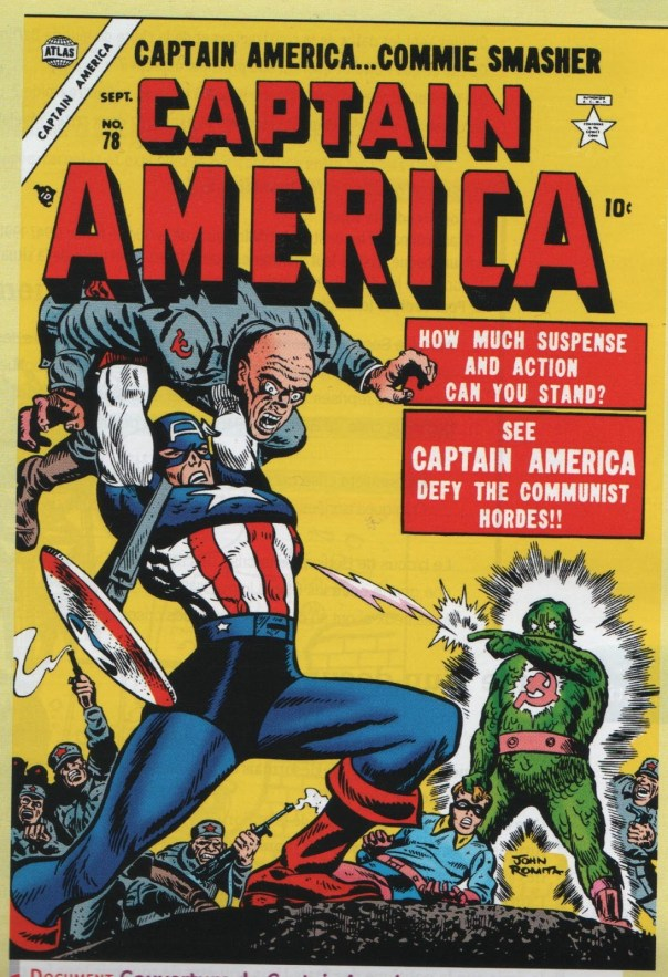 Cover for Captain America #78, 1954. Art by John Romita, Sr.
