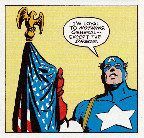 Panel from Daredevil #233. Script by Frank Miller, art by David Mazzucchelli.