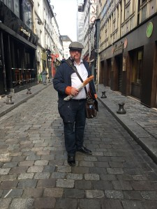 Bill Lutz in Paris with baguette