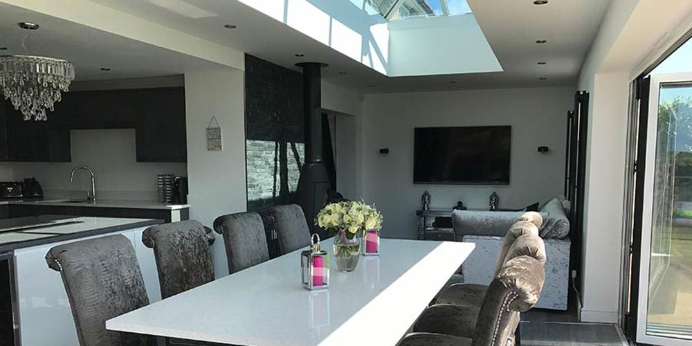 Natural Light for Flat Roof Extensions  bifolddoorsukcom