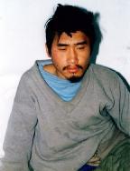 杜衛峰被迫害精神失常後住進精神病院三天時所照