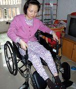 坐在輪椅上的趙風霞
