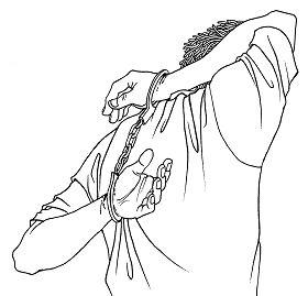 中共酷刑示意圖:背銬