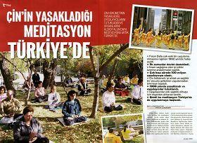 圖五:土耳其著名雜誌《新當代》介紹法輪功