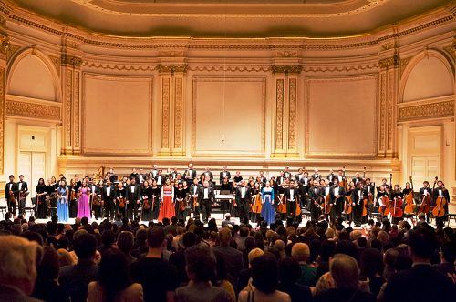 十月五日下午,神韻交響樂團音樂會在紐約卡內基音樂廳成功舉行(圖片來源:大紀元)
