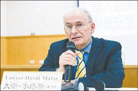 人權律師麥塔斯呼籲,台灣政府及國會應立法或修法,禁止成為跨國界、強摘器官罪行共犯及使用死刑犯器官。