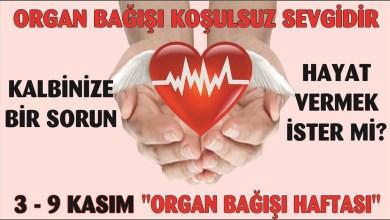 Photo of 3-9 Kasım Organ Bağışı Haftası