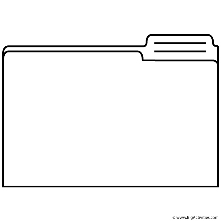 File Folder  Coloring Page (labor Day