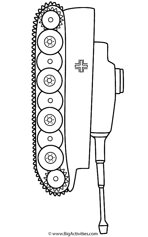Tanks Coloring Pages : tanks, coloring, pages, Tiger, Coloring, (Military)