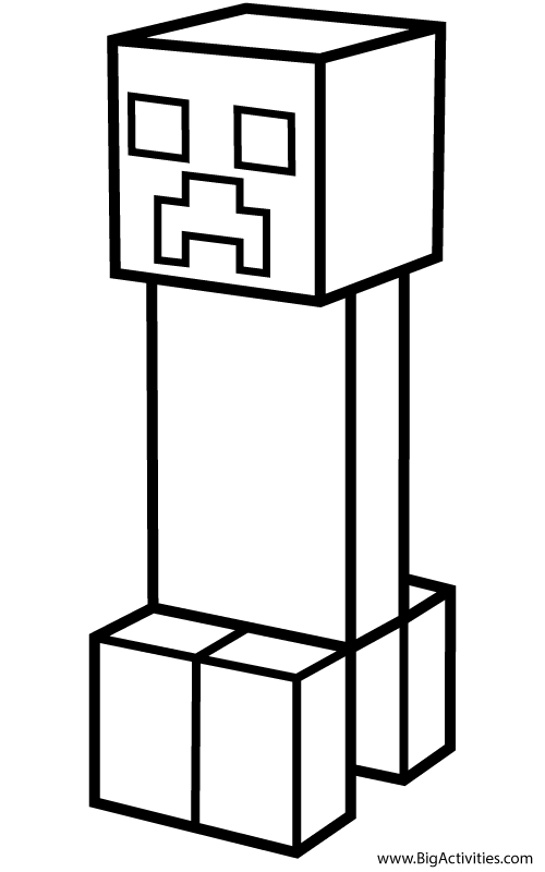 Minecraft Coloring Pages Creeper : minecraft, coloring, pages, creeper, Creeper, Coloring, (Minecraft)