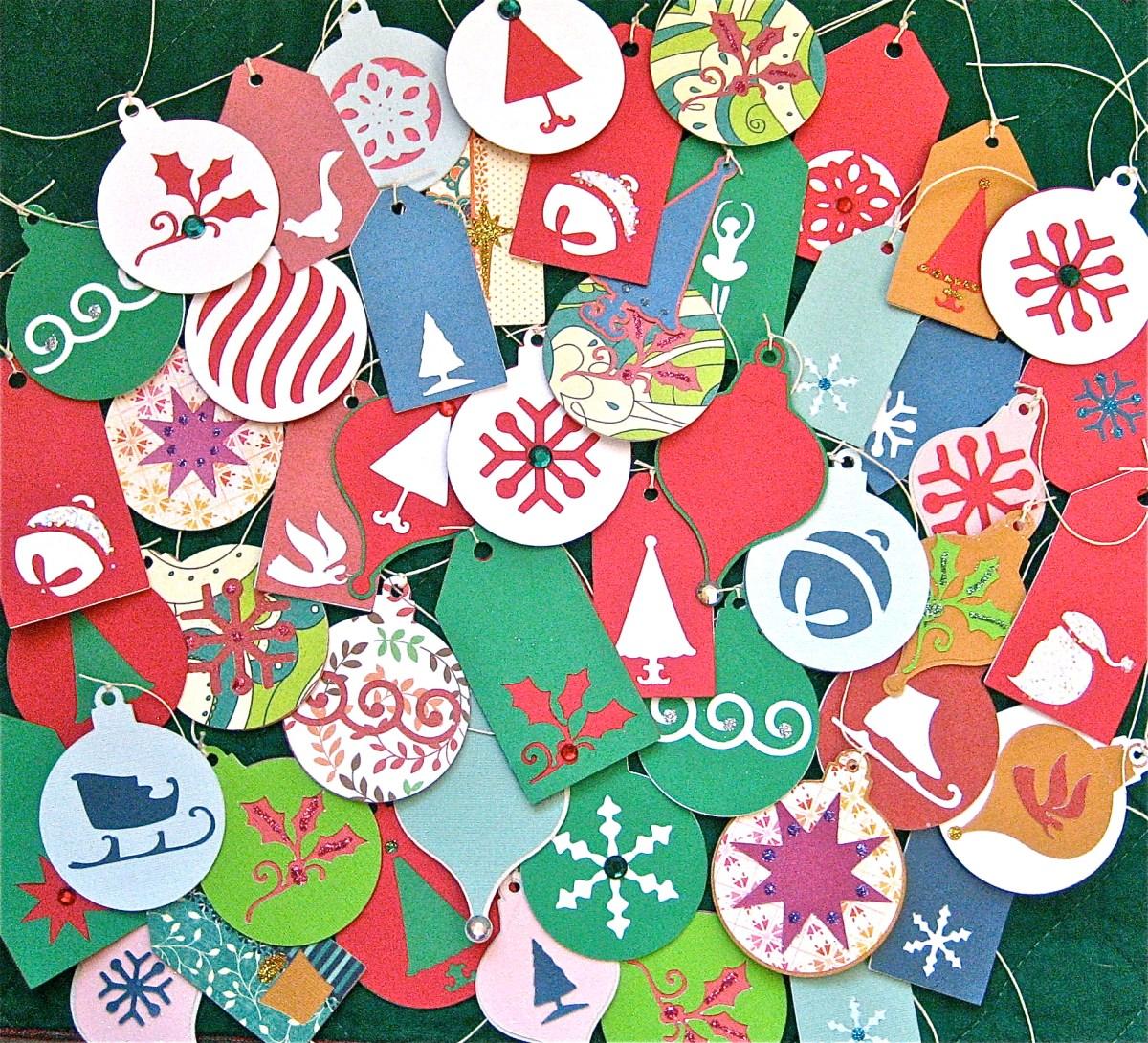 Cricut Crazy  Christmas Gift Tags  Big A Little A