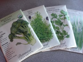 Some of our seeds. What are you planting?