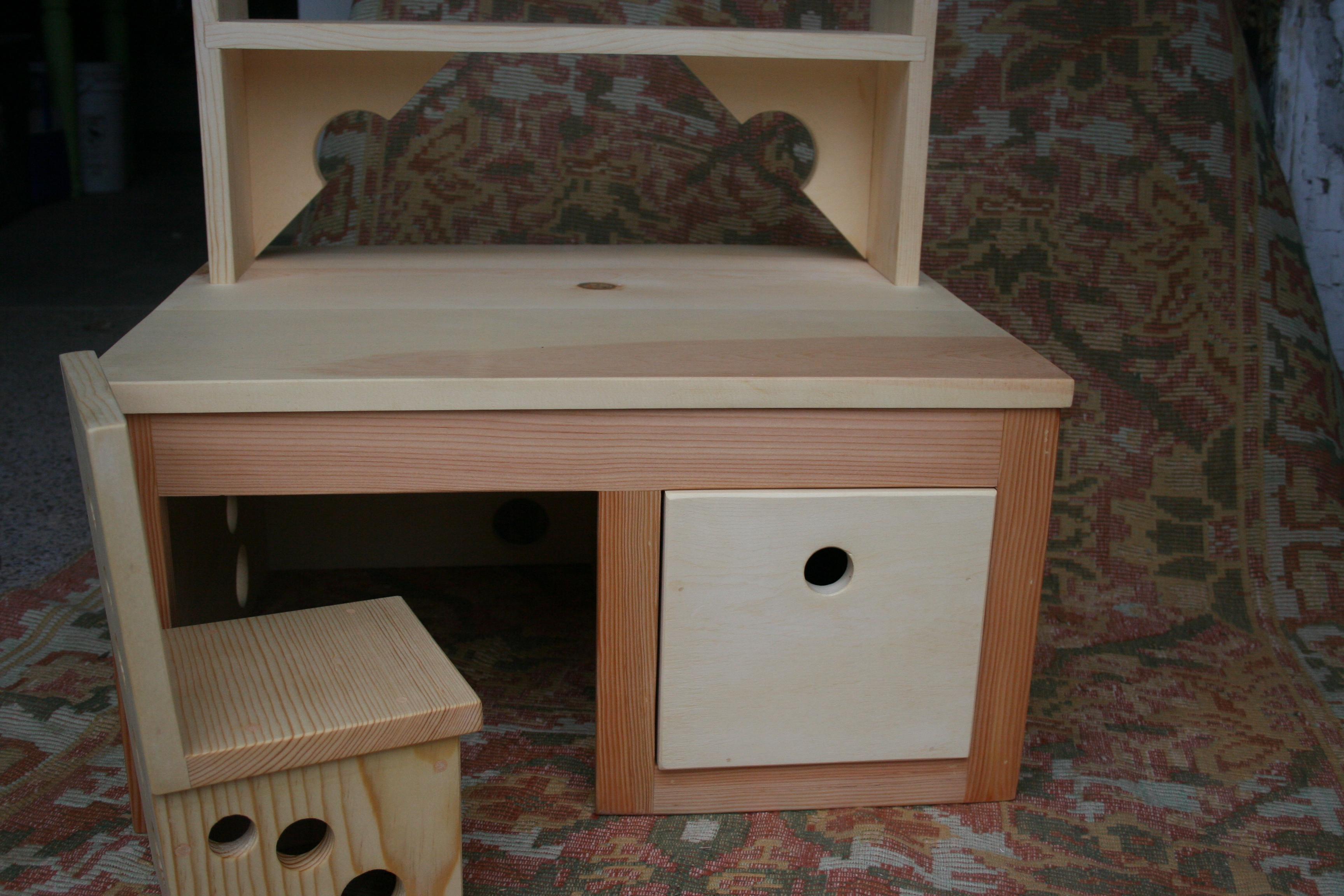 Toddler Desk  Custom Built Childrens Furniture