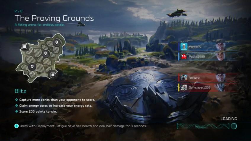 Mapa dostępna dla graczy podczas testów trybu Blitz.