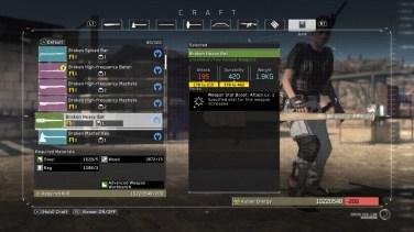 Tworzenie broni z bonusami.