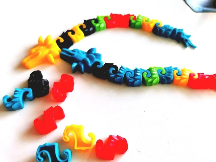 Kolorowe azteckie węże