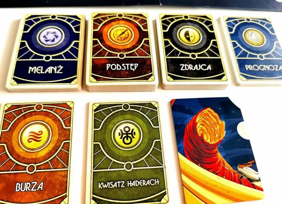 Diuna rodzaje kart