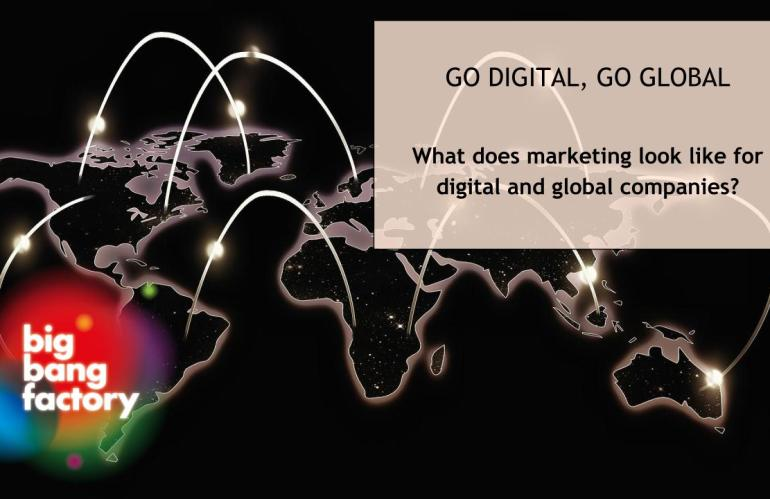 What does marketing look like for digital and global companies?