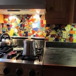 Mosaic Backsplash Kitchen Cabinet Restoration Bigbangmosaics Mexican Tile