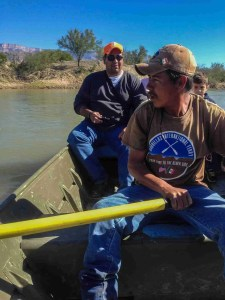 we took a rowboat across the rio grande, captain pablo was our guide