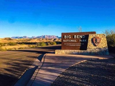 Park Entrance sign to Big Bend National Park