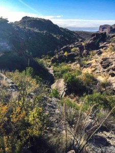 hiking down the upper burro mesa pour off trail is fun