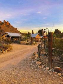 Ten Bits Ranch at dusk