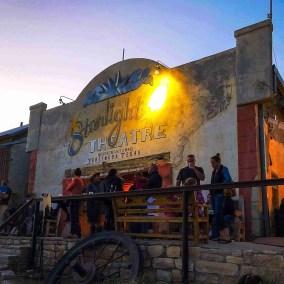 starlight theatre in terlingua texas at dusk