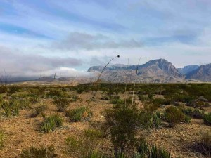 clouds moving into the chisos