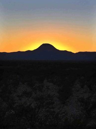 Santiago Peak Texas at sunset