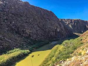 river trip on rio grande river