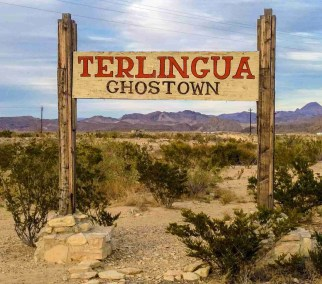 terlingua ghostown sign in texas