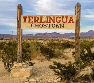 terlingua ghostown sign in texas