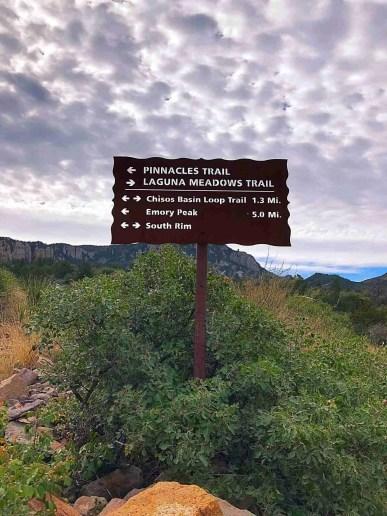 Laguna Meadows Trail trail sign