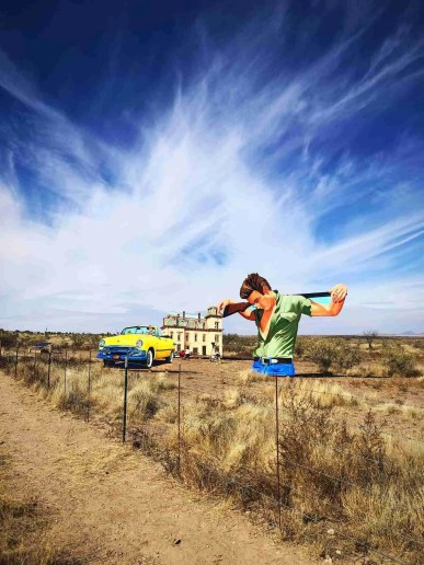 Giant Movie Art Installment Marfa Texas